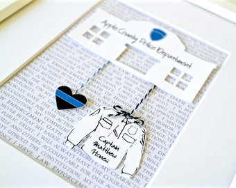 Unique Christmas Gift For Police Officer, Gift For Policeman, Police Officer Present, Police Gift, New Police Present, Police Graduation