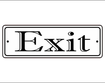 "2"" x 6"" Exit Sign - Free Shipping"