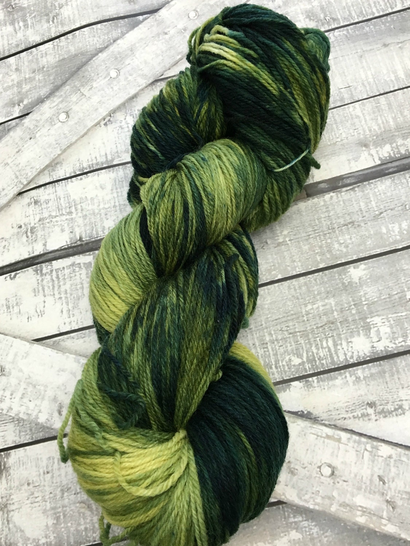 Sock Yarn  Parsley Sage Rosemary & Thyme,Hand Dyed Yarn,Indie Dyed Yarn,Fingering Weight,80/20 Superwash Merino Nylon,Toad Hollow Yarn,3 Ply