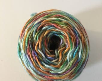 Hand dyed yarn wool and acrylic blend hand dyed l-Circus