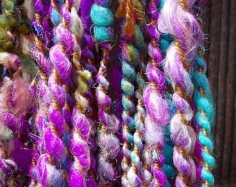 "Sari Silk Thread and Wool Handspun Yarn ""Morocco"""