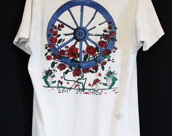 Grateful Dead t-shirt original authentic vintage distressed rock and roll shirt bootleg Let it Grow Enjoying the Ride