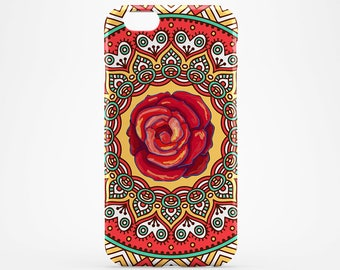 Red or Pink? Flower Mandala iPhone 8 Case iPhone X Case iPhone 8 Plus iPhone 6 Case iPhone 7 Case iPhone 5 Galaxy S8 Plus Case Phone Cover
