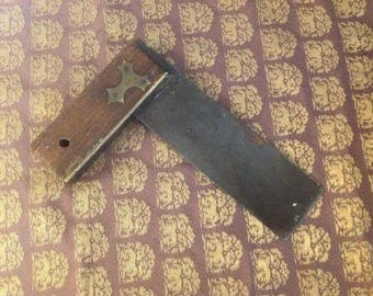 Antique Wood and Metal Square Tool, Vintage Tools, Vintage Square, Antique Tools, handmade Tools,