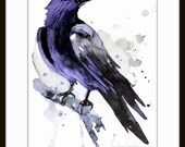 Crow, Original acrylic painting, crow lover art, Crow wall art, raven