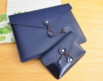 Leather Laptop Sleeve Computer Sleeve 15inch Leather Lenovo Yoga Laptop Case 15.6 Lenovo ThinkPad Sleeve Lenovo Yoga Book Leather Bag  -076
