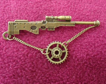 Steampunk Brooch .Steampunk Lapel Pin. Diesel punk Brooch with or with out Birthstone of your choice.