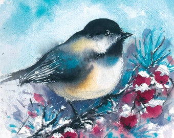 Bird Watercolor print