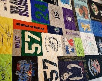 T shirt Quilt, Custom Quilt, Memory Quilt, Graduate Gift, Handmade Quilt