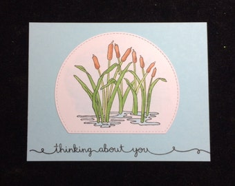 Thinking About You Cattails Greeting Card
