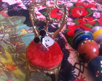 on hold do not buy - RARE and collectible Zuni Toon Sterling Silver, mother of pearl, onyx and coral Mickey Mouse Disney ring size 9.5