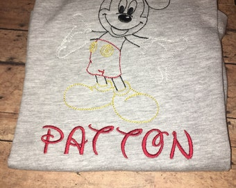 Mickey Mouse club house shirt :) can do any name ir size