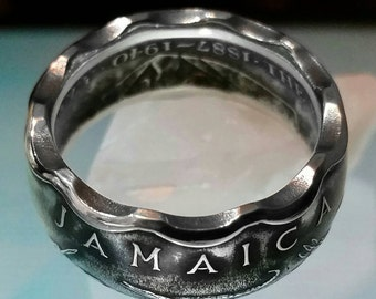 Jamaican 50 Cent Coin Ring