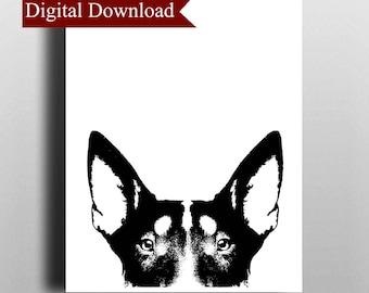Bull Terrier DIGITAL Print Download