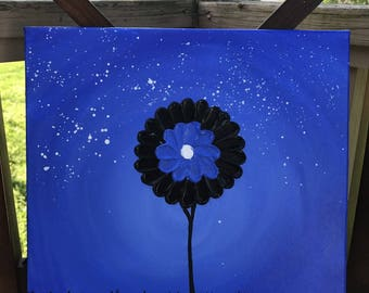 "Canvas Acrylic Painting 12x.5x12 ""Single Tree""- Original Paintings by JThompson"