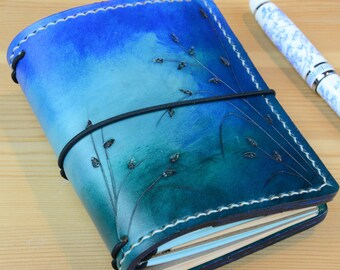 All Sizes Seagrass Ombre Turquoise Blue Fauxdori Midori Travelers Notebook A4 A5 A6 Cahier Pocket Regular Standard Personal Passport A7