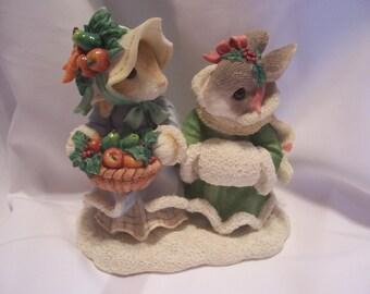 My Blushing Bunnies Hope Brings A Bountiful Harvest Figurine