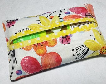 Fabric Travel Tissue Cover, Travel Tissue Case, Pocket Tissue Holder, Gift Under 10