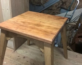 Side Table handmade solid oak and CHERRY