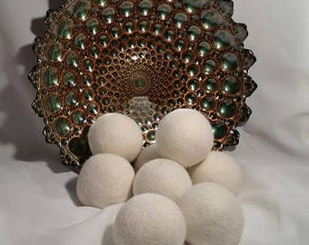 SALE!!!!!  Wool Dryer Balls, 6 -Pack XL 100% Pure Organic Wool,  Laundry dryer balls, Reusable, Reduces Drying Time, Natural Fabric Softener