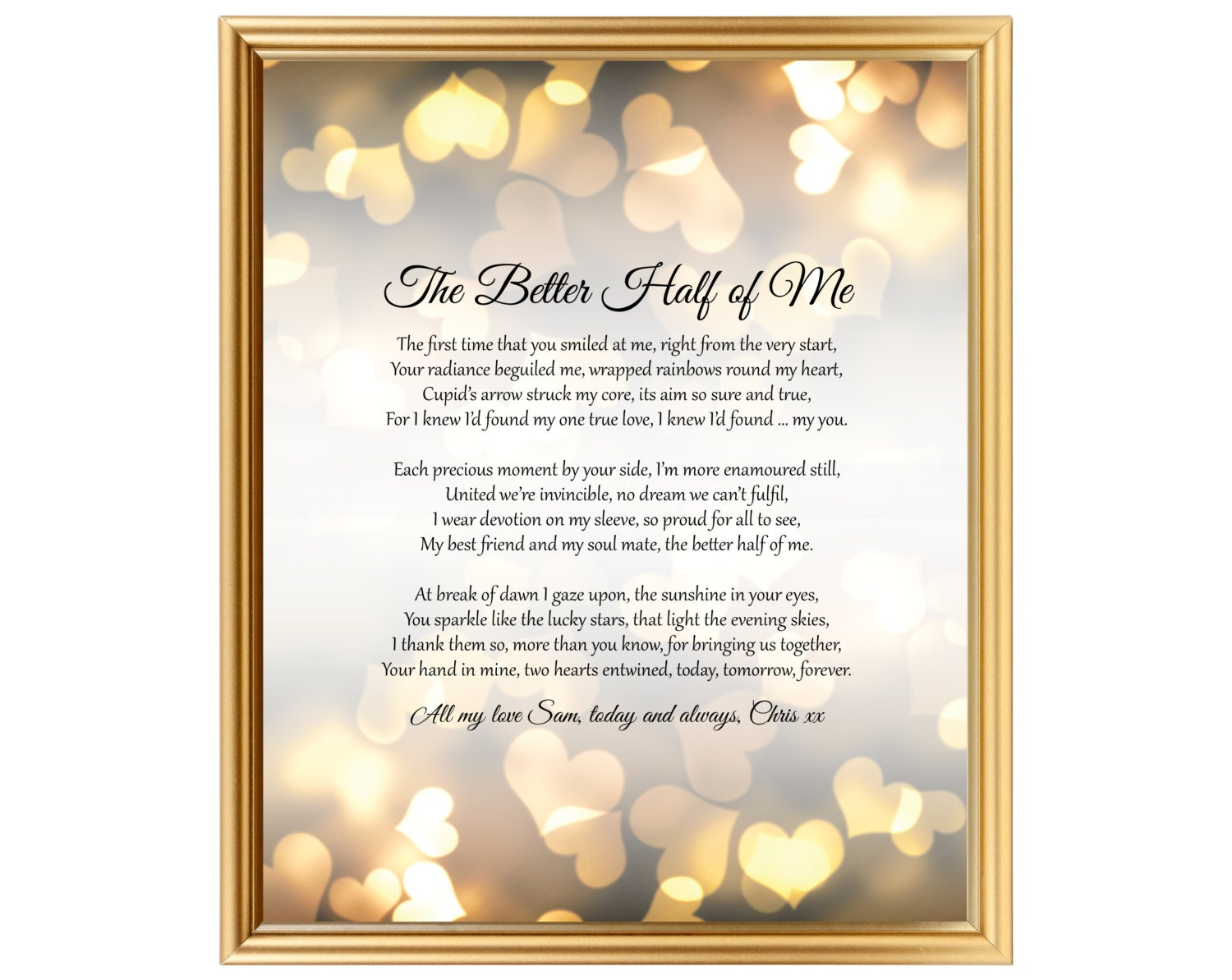 4th Wedding Anniversary Gifts For Husband: Wedding Anniversary Gift Poem For Him Her Husband Wife Partner