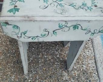 Rustic wood decorative bench / stool