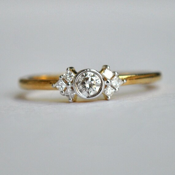 engagement ring baby princess cluster ring