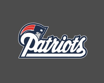 Full Color New England Patriots - Die Cut Decal