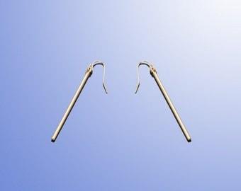 Sticks earrings long sticks earrings gold plated sticks earrings