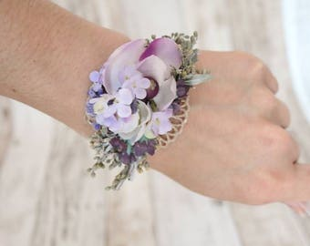 Wrist corsages - Purple