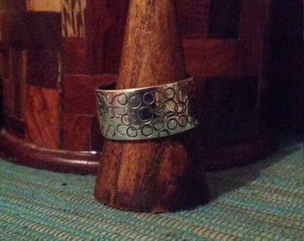 Sterling silver engraved band