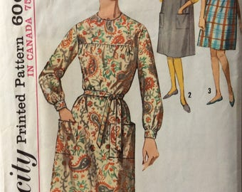 Simplicity 5213 misses dress or jumper size small size 10-12 bust 31 - 32 vintage 1960's sewing pattern