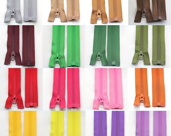 27 inches separating zippers 5pcs, plastic zipper, 5# for jacket, many colors to be choosen -- 5 pcs
