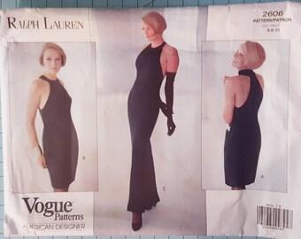 Vogue 2606 Misses Dress Size 6-10