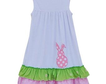 Girls Monogrammed Easter Dress/Bunny Dress