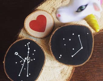 Valentine's Day magnetic wood constellation Luminous