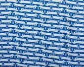 Blue white cotton jersey ...