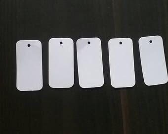 100 White Price tags rectangular price tags