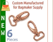 3/4 Inch Rose Gold / Copper Oval Gate Swivel Snap Hook, 6 Piece Pack, Purse Clips, Handbag Bag Making Hardware Supplies, SNP-AA150 New Item
