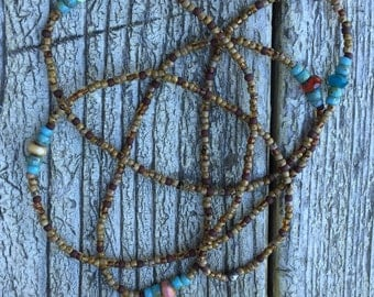 Rustic Brown Long Necklace