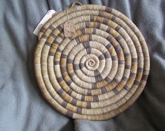 Hopi Coiled Basket-1920's with tag