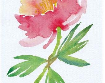 Spring Bloom Watercolor