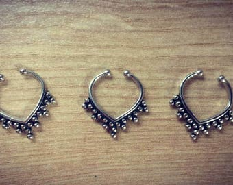 50% off ~ Silver Fake Septum Ring // A //