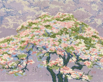 DMC BL1149/73 The British Museum Cross Stitch Kit - A Tree in Blossom by William Giles