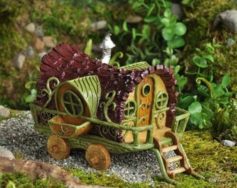 Fairy Garden  - Gypsy Wagon - Miniature