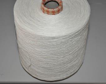 1 spool 0,95 kgs 100 hemp yarn nature rustical Nm 12 on a cone
