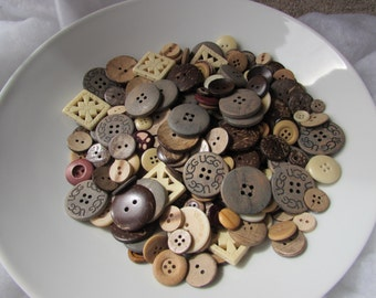 Wooden Button Assortment