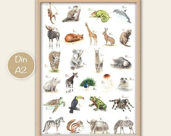 ABC poster animals