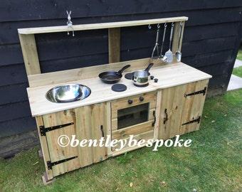 KS1/3/4 mud kitchen solid wood hob oven or washing machine sink hooks