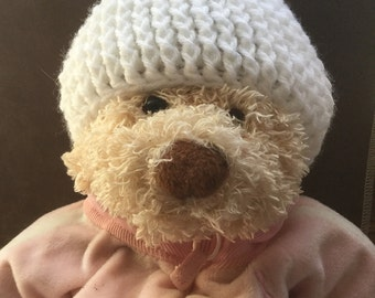 Newborn/Infant/Baby/Premie Crocheted Beanie Hat